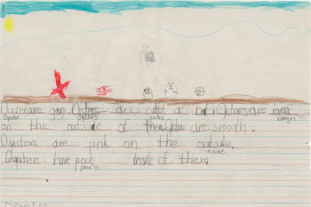 Kindergarten Writing Example 1