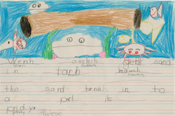Kindergarten Writing Example 3